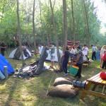 Çadırları kurarken