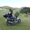 motosikletle foto safari