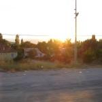 yolda güneş batıyor