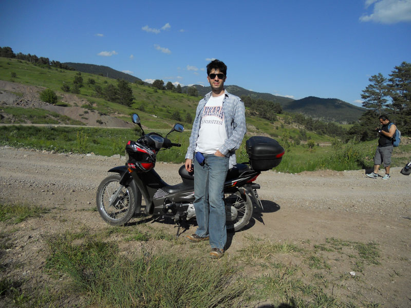 motosikletle gezi