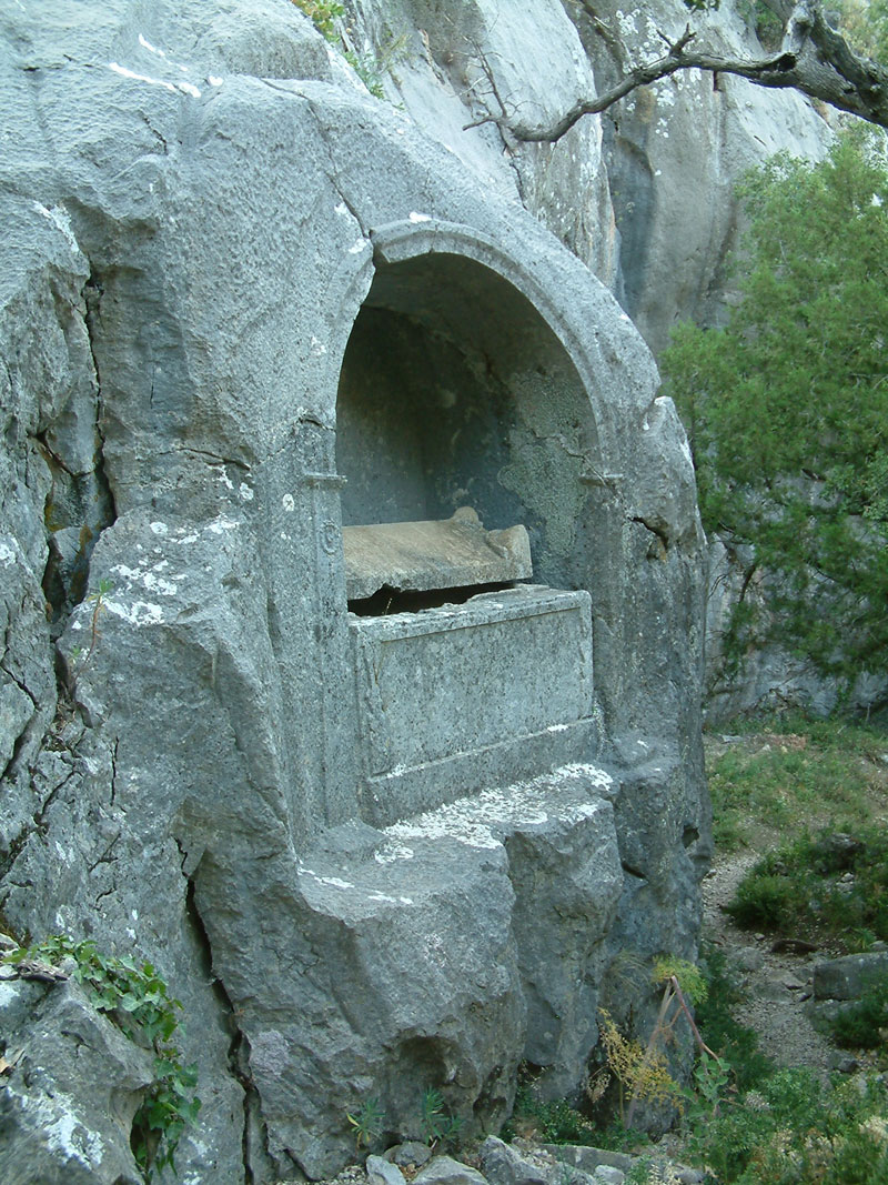 rock tombs in Termessos