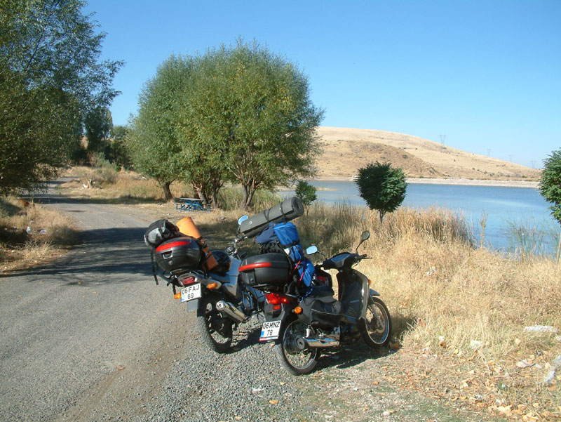 motosikletle uzun yol
