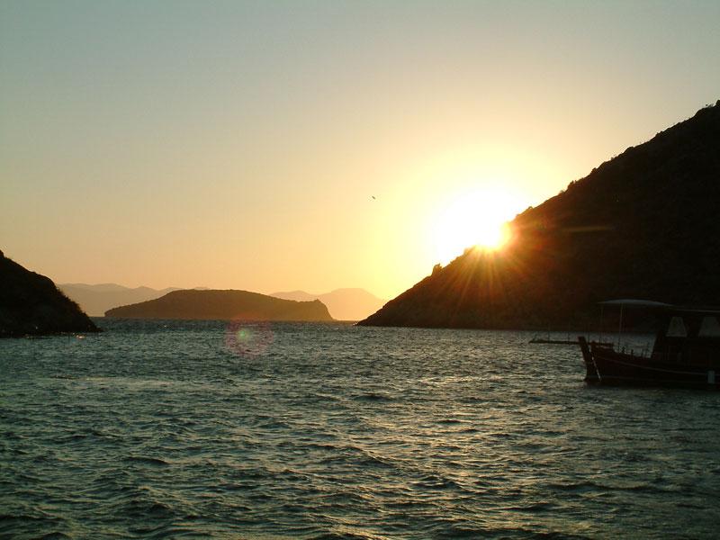 Tavşan adasında günbatımı