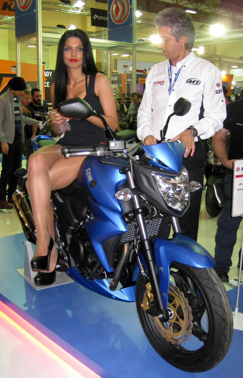 Eurasia Moto Bike Expo, SYM, güzel manken