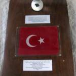 Ay taşı ve Türk Bayrağı