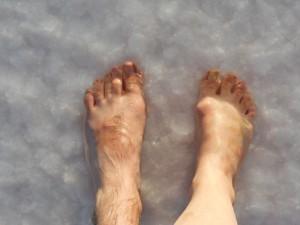 çıplak ayak tuz gölü