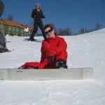 Kartepe'de snowboard