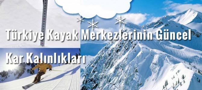 Kayak Merkezleri Güncel Kar Kalınlıkları