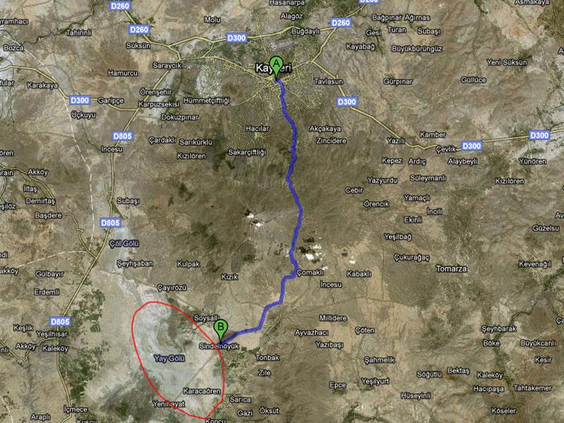 Sultan Sazlığı Develi Kayseri Harita