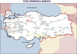 TCDD Tren Yolu Haritası