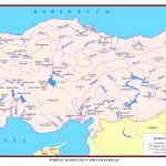 Türkiye Akarsu ve Göller Haritası Büyük boy