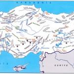 Türkiye Dağlar Akarsular Göller ve Barajlar Haritası