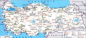 Türkiye'nin Doğal Güzellikleri ve Milli Parkları Haritası Büyük Boy