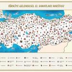 Türkiye Geleneksel El Sanatları Haritası Büyük Boy