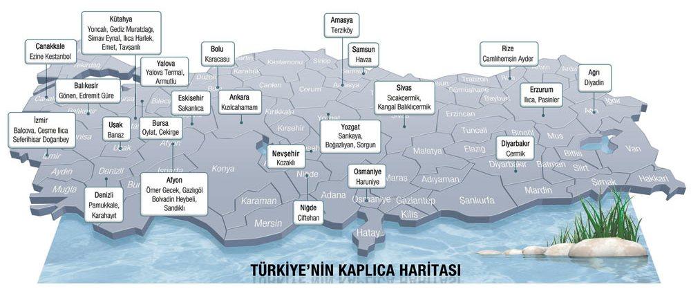 Türkiye termal kaplıca haritası