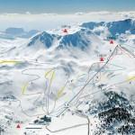Davraz Kayak Merkezi Pist Haritası