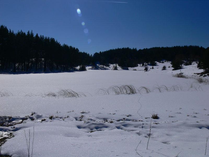 gölde kış