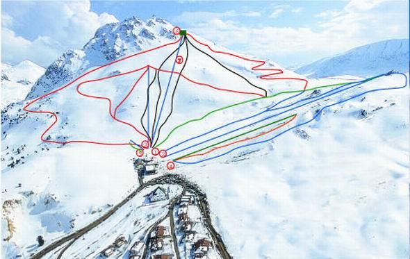 Saklikent Kayak Merkezi Pist Haritası
