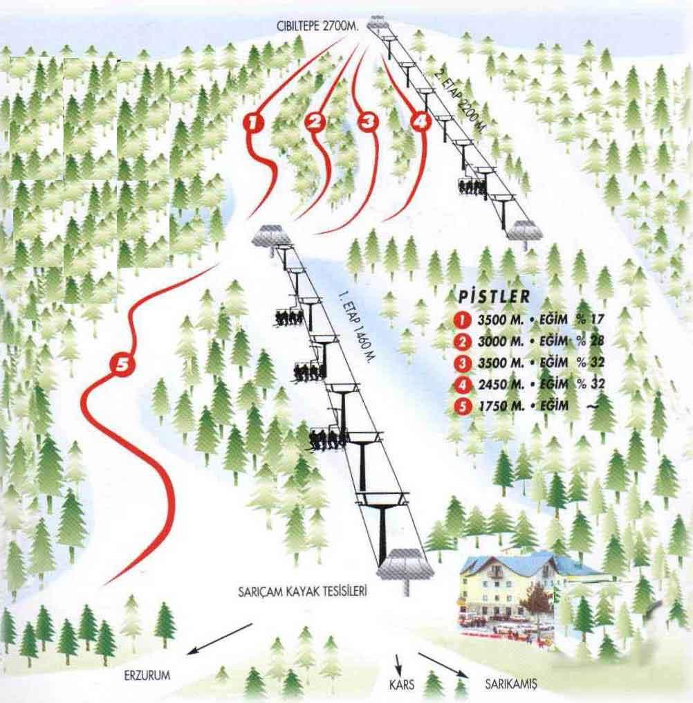 Turkiye Kayak Merkezleri Ve Pist Haritalari