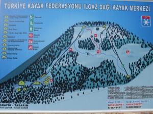 Ilgaz Kayak Merkezi Pist Haritası