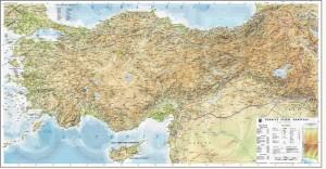 Türkiye Fiziki Haritası Ayrıntılı Büyük Boy Kaliteli