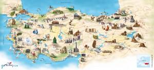 Türkiye Turizm Haritası Büyük Boy